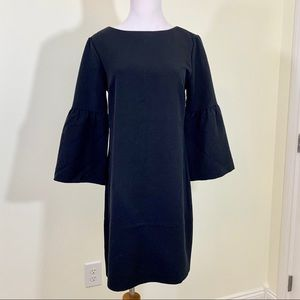 Banana republic black Juliet sleeve mini dress